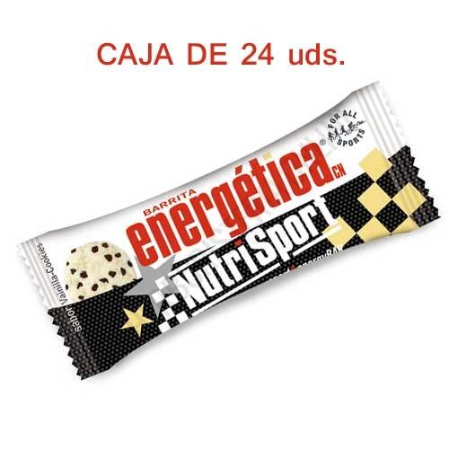 Caja 24 barritas Energéticas Nutrisport vainilla cookies