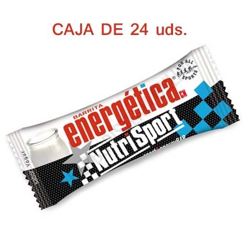 Caja 24 barritas Energéticas Nutrisport sabor yogur 46 gr.