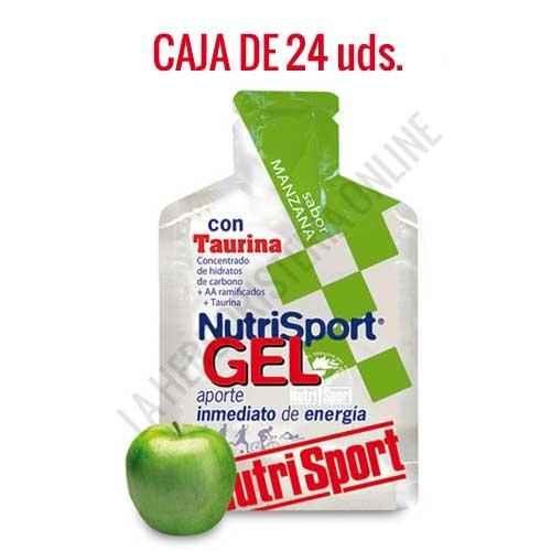 Gel con taurina Nutrisport sabor manzana caja de 24 uds. - Nutrisport Gel con Taurina asegura un aporte de energía inmediato y prolongado gracias a su mecanismo de absorción sostenida y a la combinación en su fórmula de hidratos de carbono de cadena larga y corta.