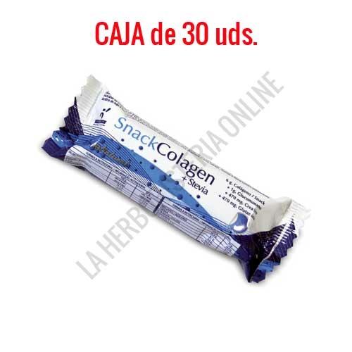 Caja de 30 Barritas saciantes con Stevia Snack Colagen Prisma Natural 30 gr. -