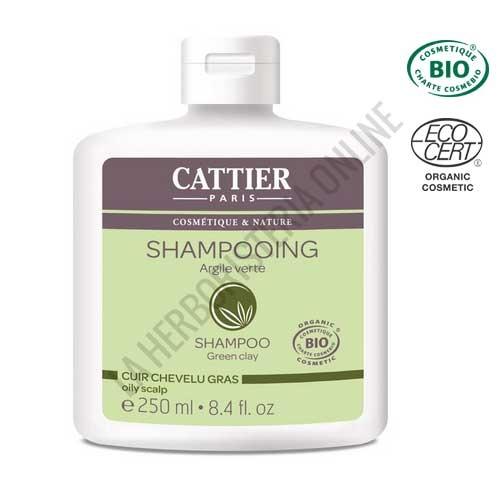 Champú cabellos grasos arcilla verde Cattier 250 ml.