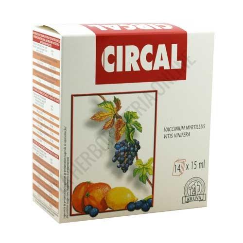 Circal Laboratorios Abad (anteriormente Kiluva)  14 sobres - Circal 14 sobres de Kiluva es un complemento a base de Mirtilo y Vid Roja, especialmente indicado para el cuidado del sistema circulatorio.