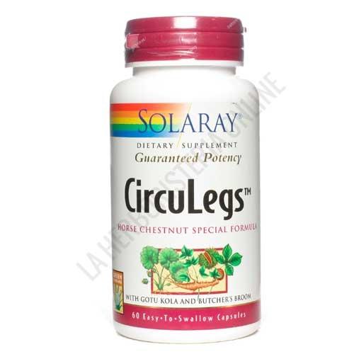 Circulegs Piernas Cansadas y Varices Solaray 60 cápsulas -