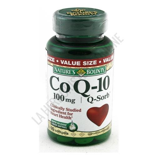 Co Q-10 Q-Sorb 100 mg. Natures Bounty 60 perlas - Cada perla contiene 100 mg. de Coenzima Q-10, nutriente antioxidante que ayuda al organismo a bloquear el efecto dañino de los radicales libres. PRODUCTO DESCATALOGADO  POR EL LABORATORIO FABRICANTE. Como alternativa sí disponible le recomendamos: Pura Coenzima Q-10  120mg. Nature's Bounty -Pulse aquí para ver el producto.