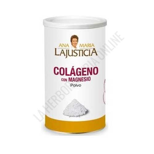 Colágeno con Magnesio Ana María Lajusticia en polvo 350 gr. - Colágeno con Magnesio de Ana Maria Lajusticia constituye un aporte de nutrientes para un mantenimiento saludable de articulaciones, huesos, piel y músculos. Su presentación en polvo aporta 7 gr. de colágeno por dosis diaria (3 cucharaditas) + Magnesio.
