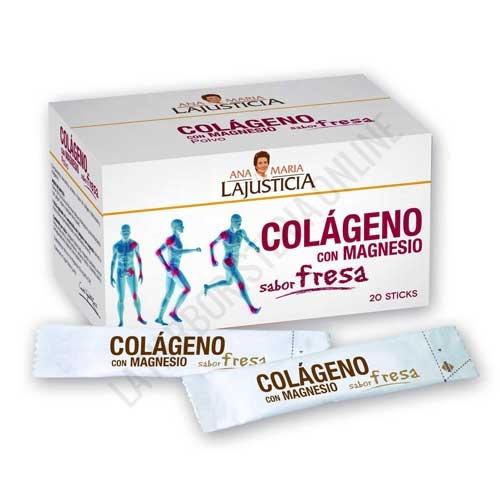 Colágeno con Magnesio sabor fresa Ana María Lajusticia 20 sticks