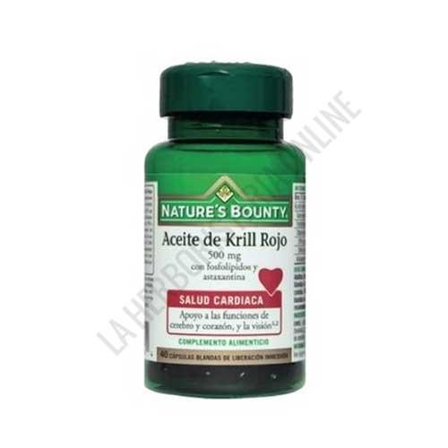 Aceite de Krill Rojo 500 mg. Natures Bounty 40 cápsulas -