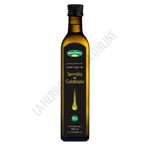 Aceite de Semilla de Calabaza Naturgreen 500 ml. -