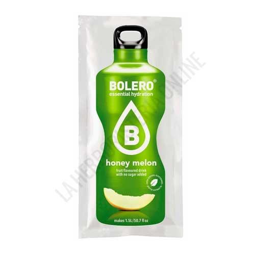 Bebida refrescante sin azúcar baja en calorías Bolero sabor Melón 9 gr. (equivale a 1,5 l.) - Bolero es un refresco instantáneo sin azúcar y bajo en calorías. Disfruta de su sabor a fruta auténtica obteniendo una  bebida de 1,5 litros sin conservantes ni  alérgenos, con colorantes y aromas de origen natural.