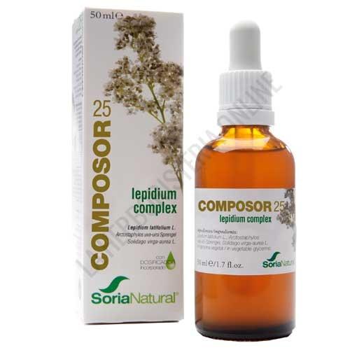 Composor 25 Lepidium Complex XXI Cálculos Soria Natural 50 ml.