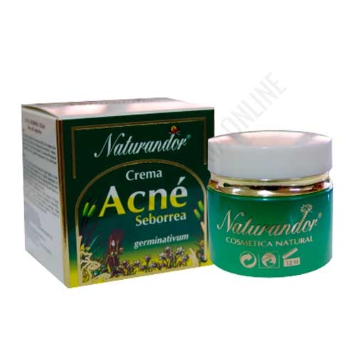 Crema facial Acné Seborrea pieles jóvenes Naturandor Fleurymer 50 ml.