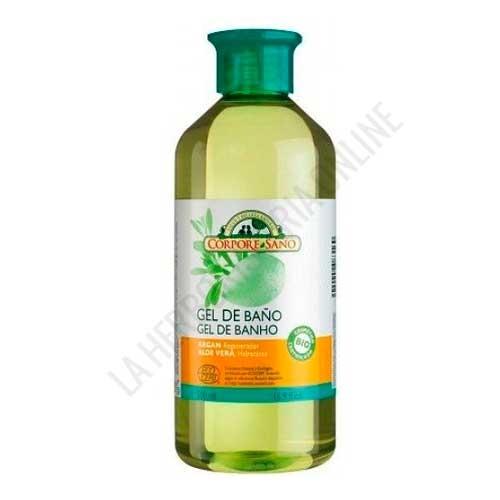 Gel de Ducha BIO Hidratante Regenerador Aloe Vera y Argan Corpore Sano 500 ml.