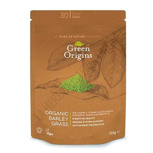Hierba de Cebada ecológica en polvo Green Origins 125 gr. -