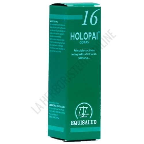 Holopai 16 Control de Peso Equisalud 31 ml. - Holopai 16 de Equisalud es una composición a base de plantas especialmente útiles para ayudar a combatir el sobrepeso en caso de obesidad.