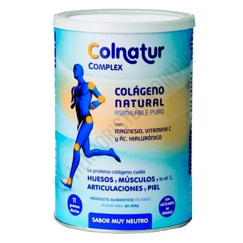 Colnatur Complex: Colageno, Magnesio, Vitamina C y Acido Hialuronico sabor neutro 330 gr.