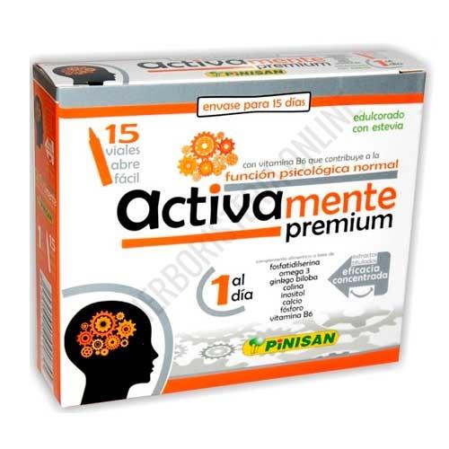 Activamente Premium Pinisan 15 viales abrefácil - Activamente Premium de Pinisan es una fórmula concentrada para ayudar a activar la mente, reforzando la memoria, de eficacia concentrada (a base de extractos titulados).