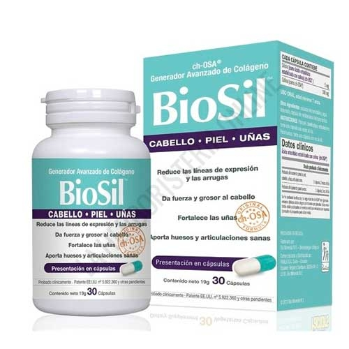 BioSil ch-OSA generador de Colágeno fórmula original 30 cápsulas -