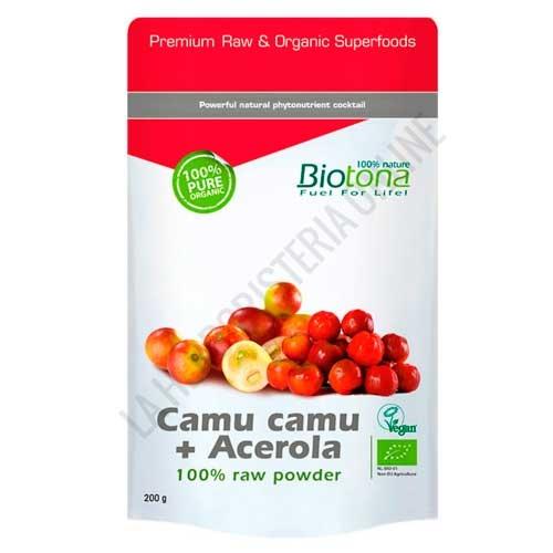 Camu Camu Acerola Raw 100% Polvo crudo BIO Biotona 200 gr. -