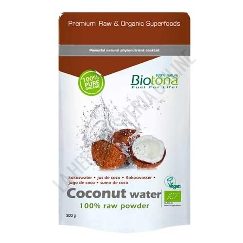 Jugo de Coco Coconut Water 100% Polvo crudo BIO Biotona 200 gr. -