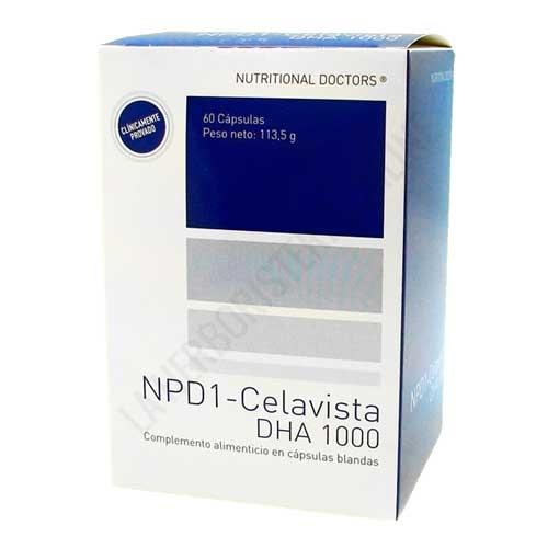 NPD1 DHA 1000 Celavista 60 cápsulas - NPD1-CELAVISTA® es una fórmula desarrollada hace más de 16 años del Dr. José M. Cela a base de nutrientes específicos y una alta concentración de DHA (1.000 mg/cápsula de DHA)  está destinado a apoyar la salud visual y neurológica en la edad adulta.