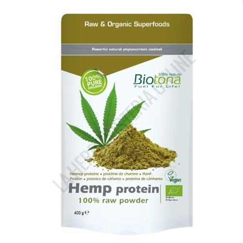 Proteina de Cañamo Hemp Protein 100%  Cruda BIO Biotona 300 gr. -