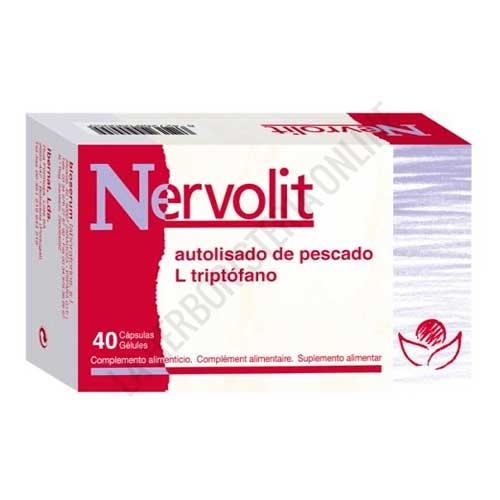 Nervolit Bioserum 40 cápsulas - Nervolit de Bioserum es una formulación a base de Autolisado de pescado, Alga Chlorella, Coenzima Q10, Taurina y L -Triptófano, específica para ayudar al equilibrio del sistema nervioso.
