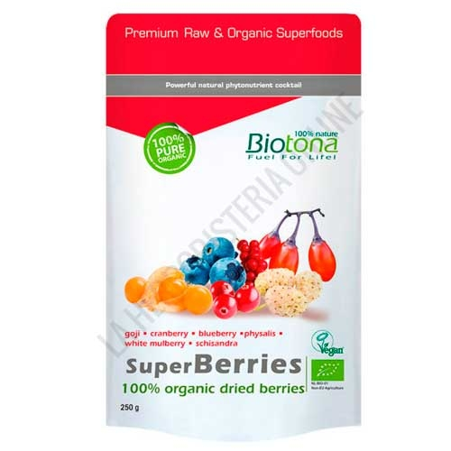 Superberries 100% frutos secos orgánicos BIO Biotona 250 gr.