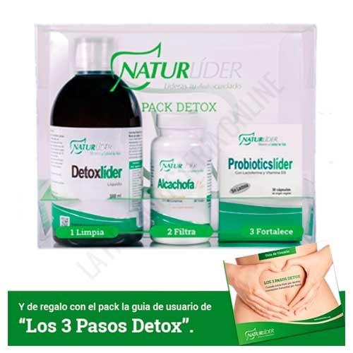 Pack Detox Naturlider (Detoxlider + Alcachofa Plus + Probioticslider) con guía Detox gratis