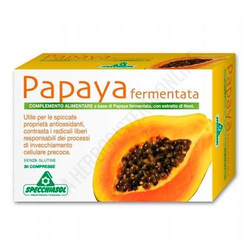 Papaya fermentada y Noni Specchiasol 30 comprimidos -