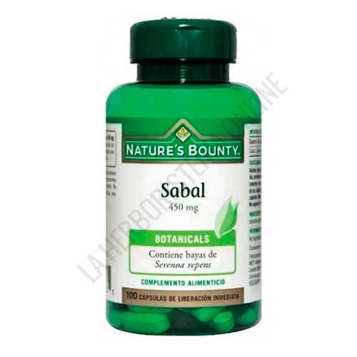 Sabal 450 mg. Natures Bounty 100 cápsulas