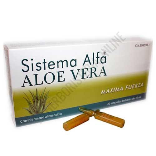 Sistema Alfa Aloe Vera Maxima Fuerza Pharma OTC 20 ampollas -
