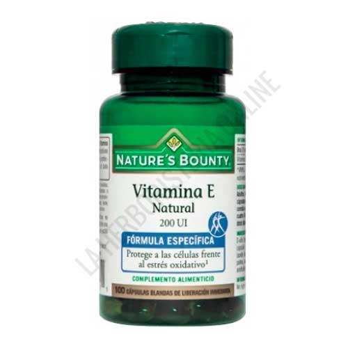 Vitamina E natural 200 ui Natures Bounty 100 cápsulas