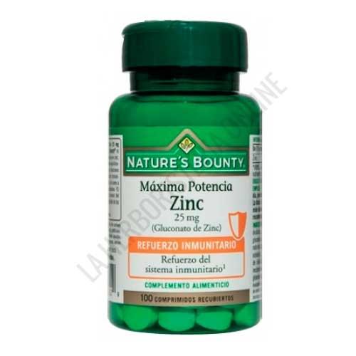 Zinc 25 mg. Natures Bounty 100 comprimidos -