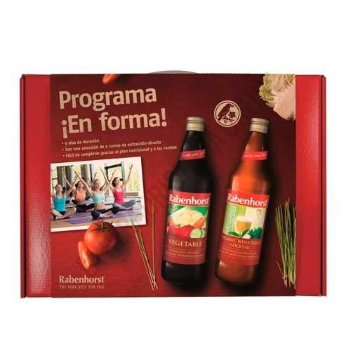 Programa ¡En Forma! Plan 5 días Rabenhorst 5 zumos de 750 ml. + recetas