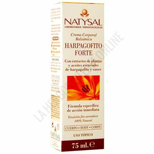 Crema Harpagofito Forte Natysal 75 ml. - La Crema Harpagofito Forte de Natysal es una crema balsámica de acción calmante a base de Hipérico, Romero, Harpagofito, Consuelda y Sauce. VER NUESTRO  ENVASE AHORRO de 200 ml. AQUÍ .