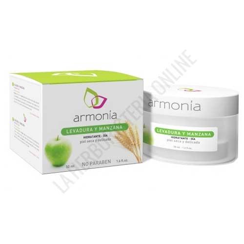 Crema hidratante de día pieles sensibles con Levadura y Manzana Armonía 50 ml.
