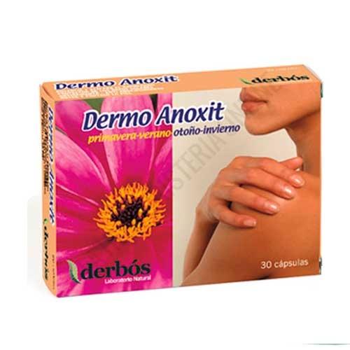 Dermo Anoxit protección antioxidante solar Derbos 30 cápsulas - PRODUCTO DESCATALOGADO POR EL LABORATORIO FABRICANTE.