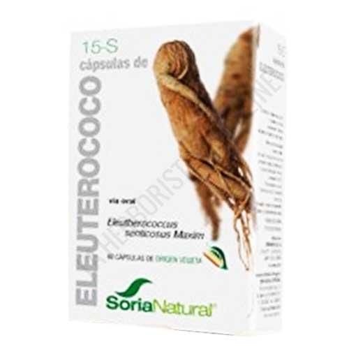 Eleuterococo 15-S Soria Natural 60 cápsulas - PRODUCTO DESCATALOGADO POR EL LABORATORIO FABRICANTE.