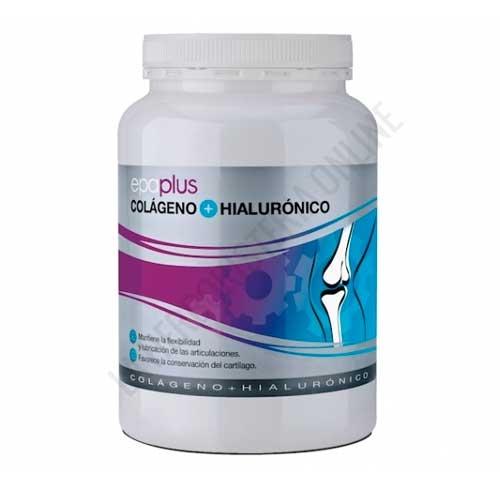 Epaplus Colageno y Acido Hialuronico sabor vainilla 420 gr. - Epaplus Colágeno y Ácido Hialurónico es un complemento ideal para deportistas y personas de edad avanzada, gracias a los beneficios que aportan el colágeno y el ácido hialurónico a nivel articular, de ligamentos, piel, cabello y uñas.