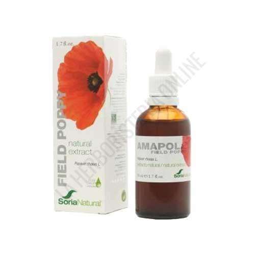 Extracto de Amapola XXI  sin alcohol Soria Natural 50 ml.