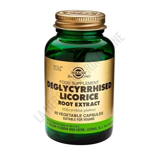 Regaliz Desglicirrizado raíz Licorice Root Extract Solgar 60 cápsulas vegetales -