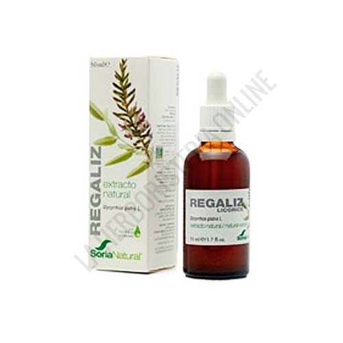 Extracto de Regaliz XXI  sin alcohol Soria Natural 50 ml. con dosificador