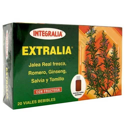 Extralia Jalea Real con Ginseng y hierbas Integralia 20 viales -