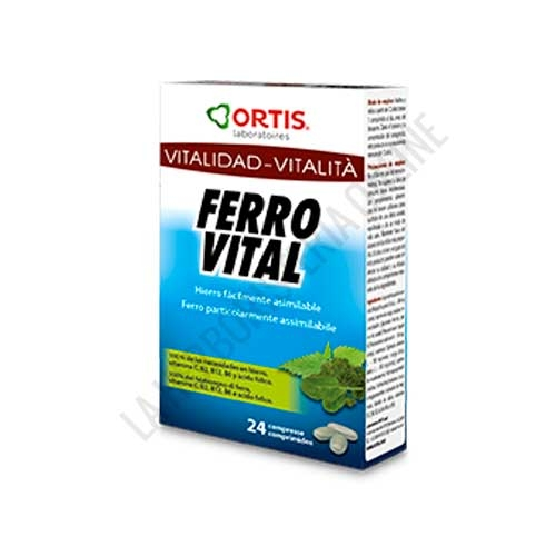 Ferro Vital GN1 hierro Ortis 24 comprimidos -