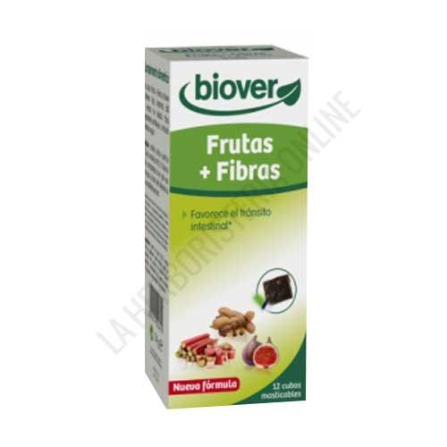 Frutas y Fibra Biover 12 cubitos