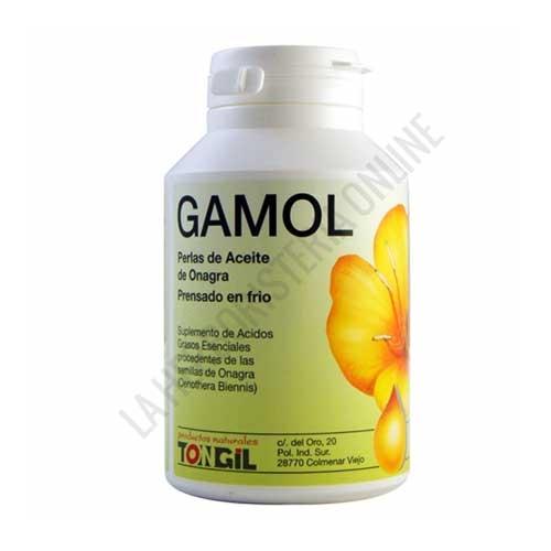 Gamol aceite de onagra prensado en frío Tongil 280 perlas - Las perlas Gamol contienen aceite de onagra prensado en frío (rico en ácidos grasos poliinsaturados de la serie Omega 6) y vitamina E.