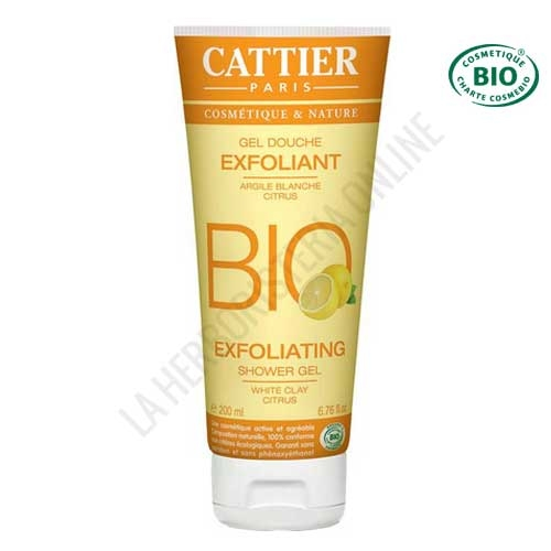Gel de ducha exfoliante Cattier 200 ml. -