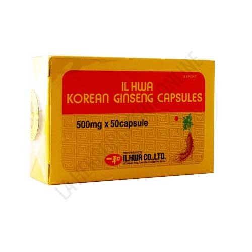 OUTLET Ginseng IL HWA 500 mg. Tongil blister 50 cápsulas - OUTLET - Unidades limitadas. Disponible Ginseng coreano IL HWA de 500 mg. 50 cápsulas. Contenido en perfecto estado, fecha de caducidad Septiembre de 2020. Motivo Outlet: Últimas unidades en stock.