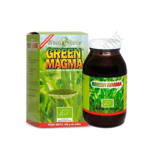 Green Magma BIO en polvo Green Foods 150 gr. - CAMBIO DE ENVASADO DE PRODUCTO POR EL LABORATORIO FABRICANTE. Como producto sí disponible, misma materia prima pero envasado nacional, le recomendamos: Verde de Cebada BIO by Green Magma El Granero Integral -Pulse aquí para ver el producto.