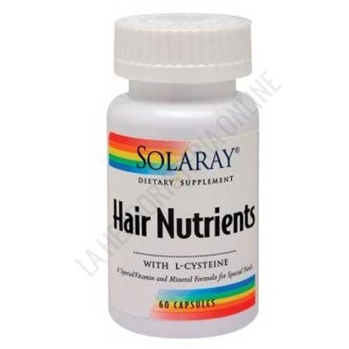 Hair Nutrients con L-Cisteína Solaray 60 cápsulas -